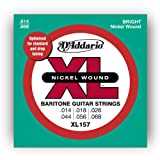 D\'Addario Cordes en nickel pour guitare électrique D\'Addario XL157, Baritone Medium, 13-62