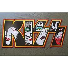 hotrodspirit - Gros Patch Kiss Groupe de Hard Rock 29x12.5 cm écusson Dos  Veste bd39f91869d