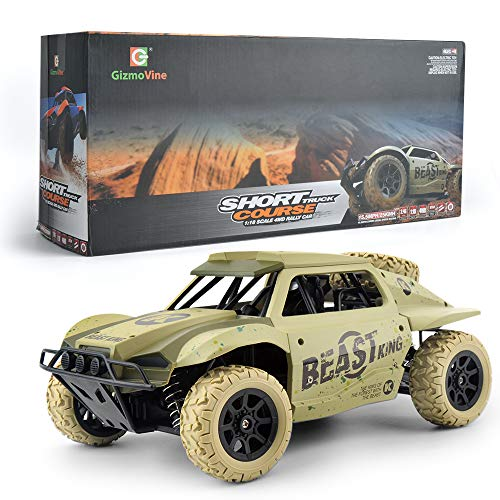 GizmoVine 2019 Upgraded Remote Control Car Large Size 4WD RC Truck High Speed 15.5MPH 2.4Ghz Radio Control Vehicle Off Road Racing
