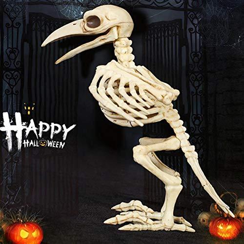 Halloween Skelett Horror Crazy Knochen Crow Skeleton Raven Anaimal Skeleton horror Halloween Prop Vogel der Crow Schädel Dekoration
