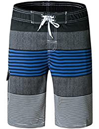 294f34dd7b LSYSAG Men Striped Board Shorts Quick Dry with Pockets Swim Trunks Summer  Fashion Beach Shorts Swimwear