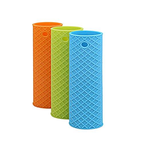 SZTARA 1 Pcs Unique Kitchen Silicone Heat Resistant Pot Pan Handle Cover Holder Sleeve Slip Cover Color Random