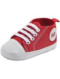 Bestanx - Sandali con Zeppa Unisex per bambini , rosso (rosso), L