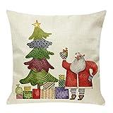 Moonuy Festival Kissenbezug Weihnachtsbaum Weichen bequemen Sofa Festival Kissen Fall Carnival Kissenbezug Weihnachten Kissenbezug