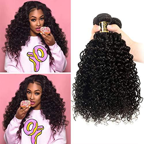 Yavida capelli umani ricci naturale human hair bundles 300g capelli brasiliani naturali extension di capelli veri ricci kinky curly hair colore nero naturale 8 8 10 poliici