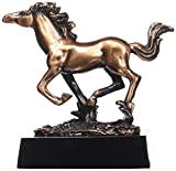 StealStreet ss-ba-c1113 17,8 cm Kupfer Pferd Galopp mit Mane & Tail Flying Display Statue