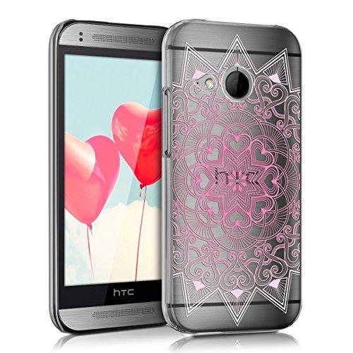 kwmobile HTC One Mini 2 Hülle - Handyhülle für HTC One Mini 2 - Handy Case in Rosa Weiß Transparent (Htc One Mini 2 Case)