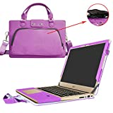 Acer Swift 3 Housse,(2 en 1) spécialement conçu Etui de protection en cuir PU + sac portable Sacoche pour 14' Acer Swift 3 SF314-51 Series ordinateur portable(NON compatible avec Acer Swift 3 SF314-52 Serie),Violet