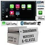 Mercedes A-Klasse W169 Audio 20 - Autoradio Radio Pioneer SPH-DA120-2DIN USB Bluetooth Apple CarPlay Einbauzubehör - Einbause
