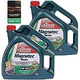 Aceite para motor Diesel Castrol Magnatec 5W-40 DPF 31783305, dos garrafas de 2 x 4 L