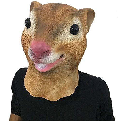 Party Story Eichhörnchen Latex Maske Neuheit Halloween Kostüm Latex Tierkopf Maske (Maske Eichhörnchen)