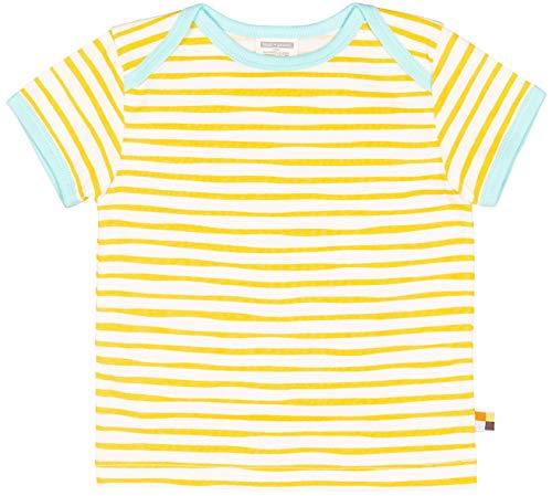 loud + proud Unisex Baby T-Shirt mit Druck, aus Bio Baumwolle, GOTS zertiziziert, Gelb (Honey Hon), 80 (Herstellergröße: 74/80)