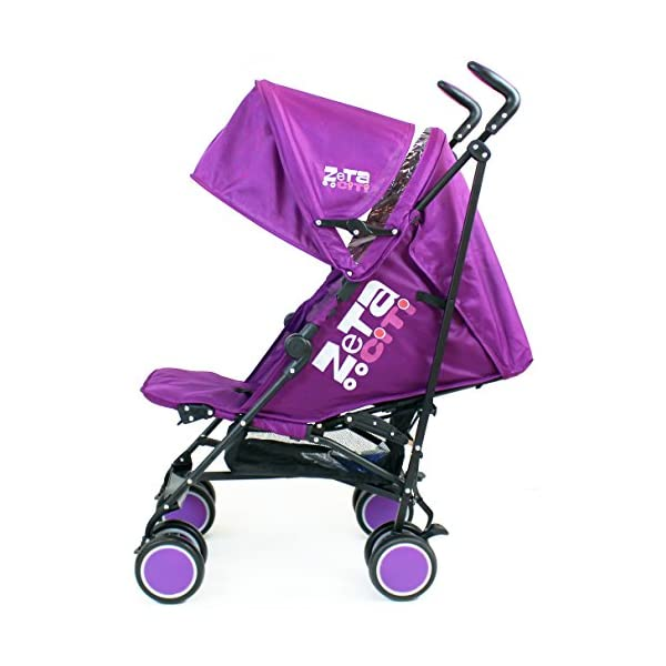 Zeta Citi Stroller Buggy Pushchair - Plum ZETA 12 Month FREE Warranty When Purchased and used from birth only. Warranty VOID If Purchased And Used For Babys Over 12 Months Lightweight stroller suitable for babies from Birth Umbrella fold for a compact folded size 1