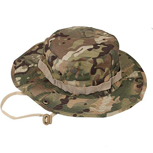 Imagen de leisial sombrero estampado de camuflaje del ejército de ala ancha borde redondo anti uv algodón outdoor acampada senderismo deporte al aire libre  montaña para adulto unisexo alternativa