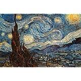 Affiche 'La nuit étoilée, vers 1889', de Vincent van Gogh, Taille: 91 x 61 cm