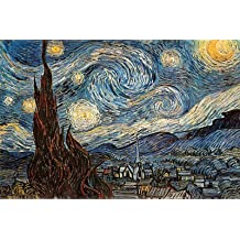 Póster 'Noche estrellada, c. 1889', de Vincent van Gogh, Tamaño: 91 x 61 cm