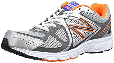 New Balance M480, Chaussures de running homme - Argent (Silver/Orange)  44.5 EU 10.5 UK