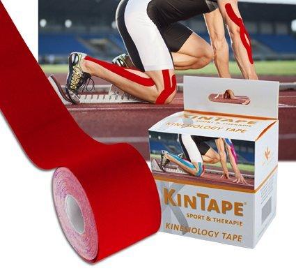 KK KinTape | Kinesiologie Tape | Verschiedene Farben | 5 cm x 5 m (Rot)