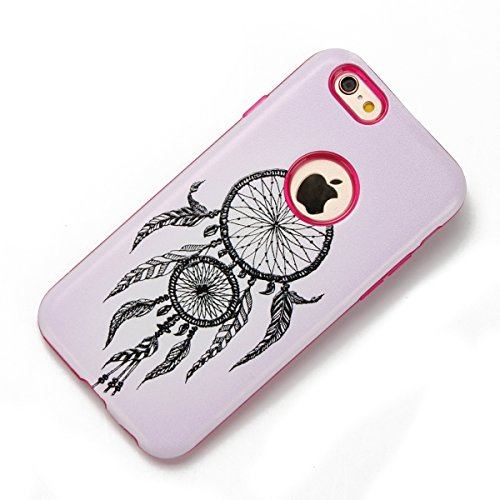 Custodia iPhone 6, iPhone 6S Cover Silicone, SainCat Custodia in Morbida TPU e Hard PC Protettiva Cover per iPhone 6/6S, 2 in 1 Custodia Cover 3D Design Transparent Silicone Case Ultra Slim Sottile Mo Campanula