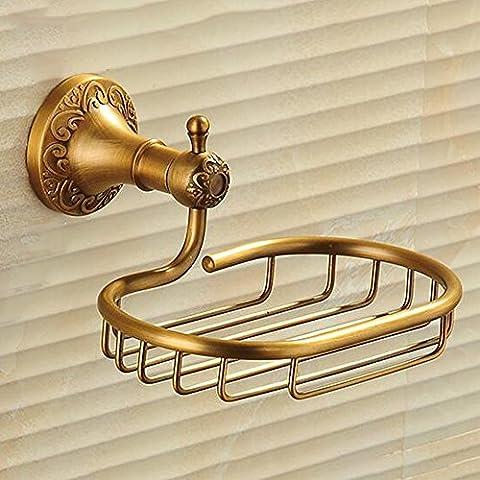 Antigüedades Todo-cobre del jabón de baño del estante, red Frame Jabón Jabón, el baño pendiente tallado