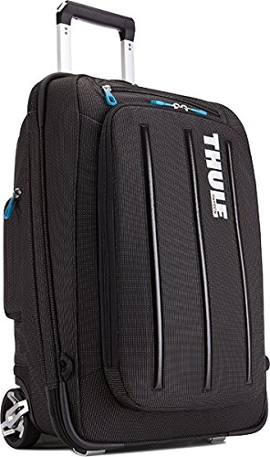 Thule Crossover Carry-On Trolley 38L Reisekoffer (tragbar als Rucksack, inkl. Notebookfach) Schwarz