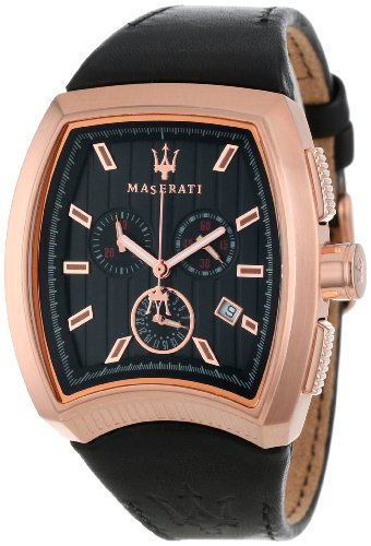 Maserati - R8871605003 - Montre Homme - Quartz Chronographe - Bracelet Cuir Noir