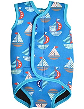 Splash About, Costume intero in neoprene per neonati, Blu (Segel), 0-6 mesi