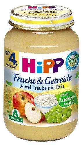 HiPP Apfel-Traube mit Reis, 6er Pack (6 x 190 g) - Bio