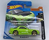 Hot Wheels 2018 '95 Mazda RX-7 Green & Black 4/10 Nightburnerz 141/365 (Short Card)
