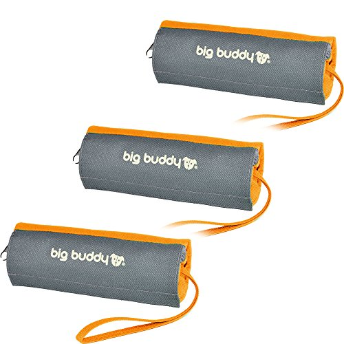 Original BIG BUDDY 3 x Futterdummy Apportiertasche Trainingsdummy Hunde Leckerliebeutel Futterbeutel Dummy Design Orange NEUE OPTIMIERTE VERSION!!!