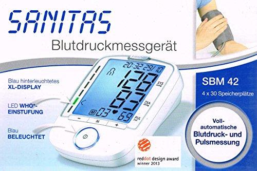 SANITAS Oberarm-Blutdruckmessgerät SBM42 / SBM 42 zum ermittel der Werte vom Blutdruck