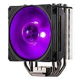 Cooler Master - Hyper 212 RGB Black Edition - Ventilateur de Processeur ( Intel & AMD) 1x Ventilateur 120mm PWM - Eclairage RGB - Noir