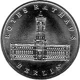 Münze 5 Mark Gedenkmünze Rotes Rathaus, DDR 1987 A (Jäger: 1614) Stempelglanz, Kupfernickelzink