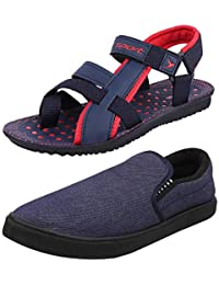 94a50a905e7a incro Men s Combo Pack of 2 Sandal   Casual Shoes (Loafers   Floaters  Sandals)