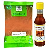 #3: Arya Farm 100% Certified Organic Cinnamon Powder ( Dalchini ) , 200g Natural Honey 200g ( Spice Powder / Free Shipping / Pure / No Chemicals / No Pesticides / No Artificial Flavour / No Preservatives / Health and Wellness Product )