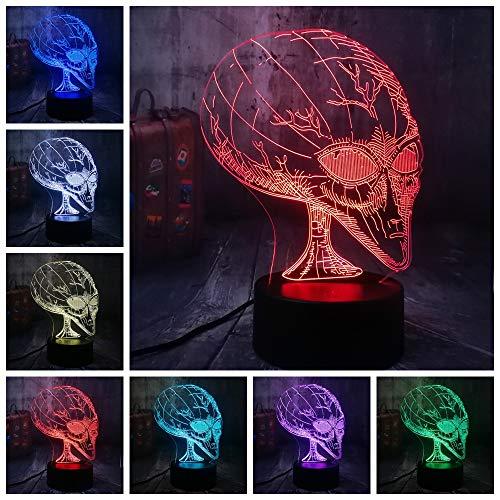 Sproud Alien - E 16 Farbe Fernbedienung Alien 3D Lampe/LED Birne/USB Stimmung Nachtlicht/Multicolor Luminaria Tisch Schreibtisch Geschenk/Spielzeug Halloween Dekor