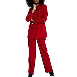 Naf Naf Pantal n LHNP14D Rojo Mujer 38 Rojo