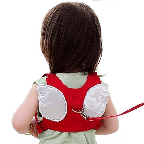 Baby Anti-verloren Gürtel, Baby Kinder Safty Anti Lost Walking Hand Gürtel Handgelenk Link Bungee Leine Sicherheit Kleinkind Harness, Reisen Helfer (rote)