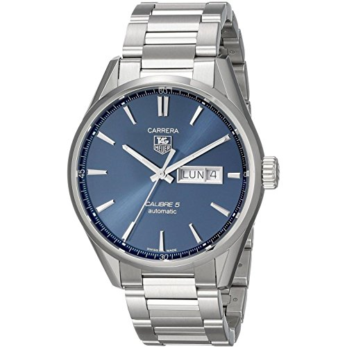 TAG Heuer Men's 41mm Steel Bracelet & Case Automatic Blue Dial Analog Watch WAR201E.BA0723