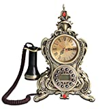 Europäische Retro Craft Telefon, Antike Heimtextilien Festnetz (Farbe : Bronze Color)