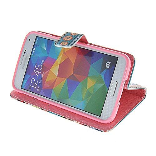 MOONCASE Pattern Series Housse de Protection Coque en Cuir Portefeuille Étui à rabat Case pour Apple iPhone 6 (4.7 inch) A16292
