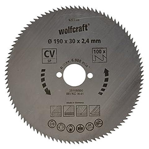 Wolfcraft 6277000 190 x 30 x 2.4mm CV Circular Saw Blade with 100 Teeth - Blue Series