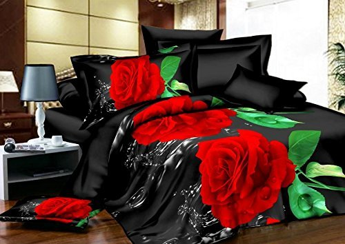 Dexim (120 GSM)3D Printed Poly Satin double Bed Sheet with Two Pillow Cover Set  available at amazon for Rs.899
