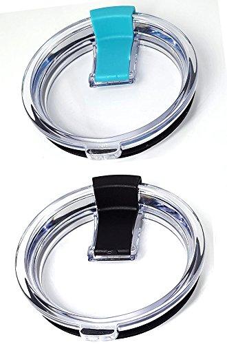 DIKETE® 2PCS Spill e bicchiere coperchi, resistente agli schizzi sigillata a prova di perdite di ricambio, coperchio con chiusura a scorrimento per Yeti Rtic most 850,5 gram bicchieri tazze da viaggio, blu + nero