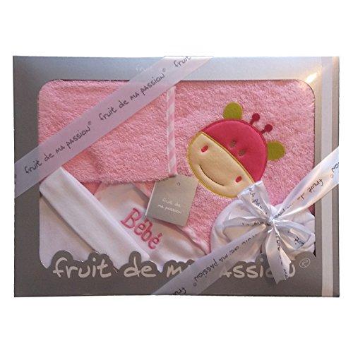 Cadeau de naissance - Coffret Sortie de bain de Naissance Bébé 5 pièces de qualité Fabrication Européenne - Coloris au choix