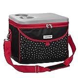 anndora Kühltasche Picknicktasche 22 L Coolbag schwarz weiß gepunktet