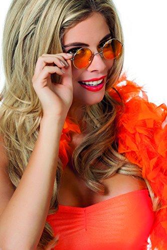 Jannes 20003 Hippie-Brille Runde Kleine Gläser Orange