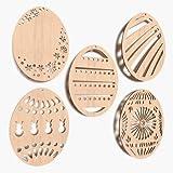 10x Osterei blank Form Mix Bemalen Basteln Dekoration Aufhängen Schenken