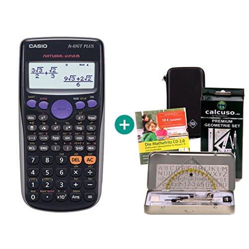 Casio FX-83GT Plus + Schutztasche + Geometrie-Set + Lern-CD (auf Deutsch)