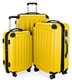 HAUPTSTADTKOFFER - Spree - Set de 3 Valise, Bagages Rigide, Trolley (S, M, L), ABS, TSA, extensible, extra léger, 4 roues, 259 L, Jaune